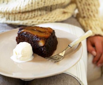 Find the recipe for Upside-Down Pear Gingerbread Cake and other ginger recipes at Epicurious.com