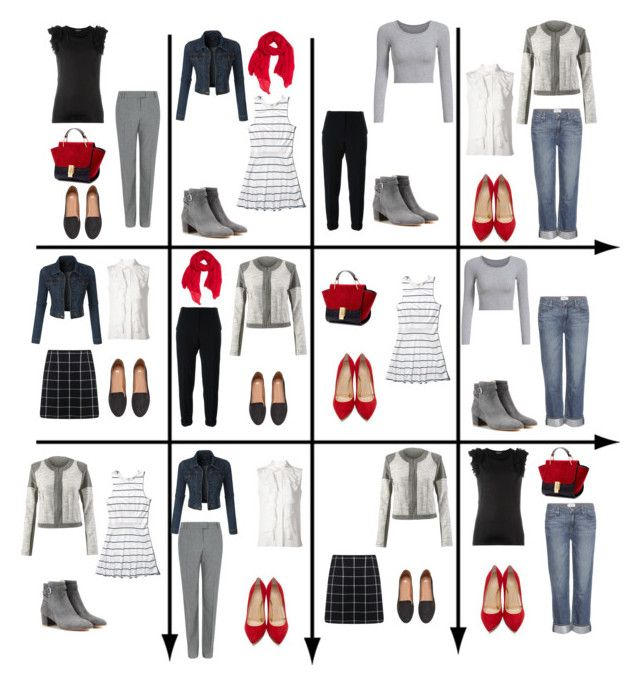 """15 Item Capsule Wardrobe for Rectangle Shape"" by minimaliststylist on Polyvore featuring Chloé, CAbi, Miss Selfridge, Abercrombie & Fitch, Nanushka, Fenn Wright Manson, Paige Denim, Alexander McQueen, LE3NO and H&M"