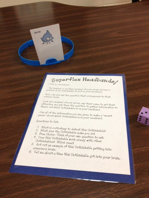 "Use the ""unthinkable character"" in place of  Hedbanz cards for this perspectives game"