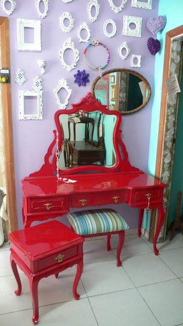 Ateliando - Customização de móveis antigos: Galeria Penteadeiras Antigas