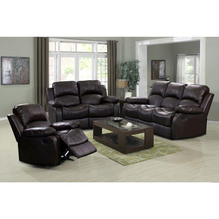 Madison 3 Piece Modern Rocking Reclining Living Room Sofa Set