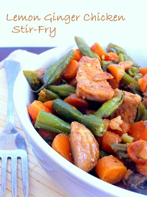 Lemon Ginger Chicken Stir-fry   The Wheatless Kitchen