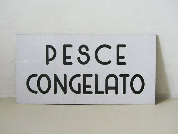 Vintage Italian Plastic Sign by uhlalalebrocantage on Etsy, €7.00