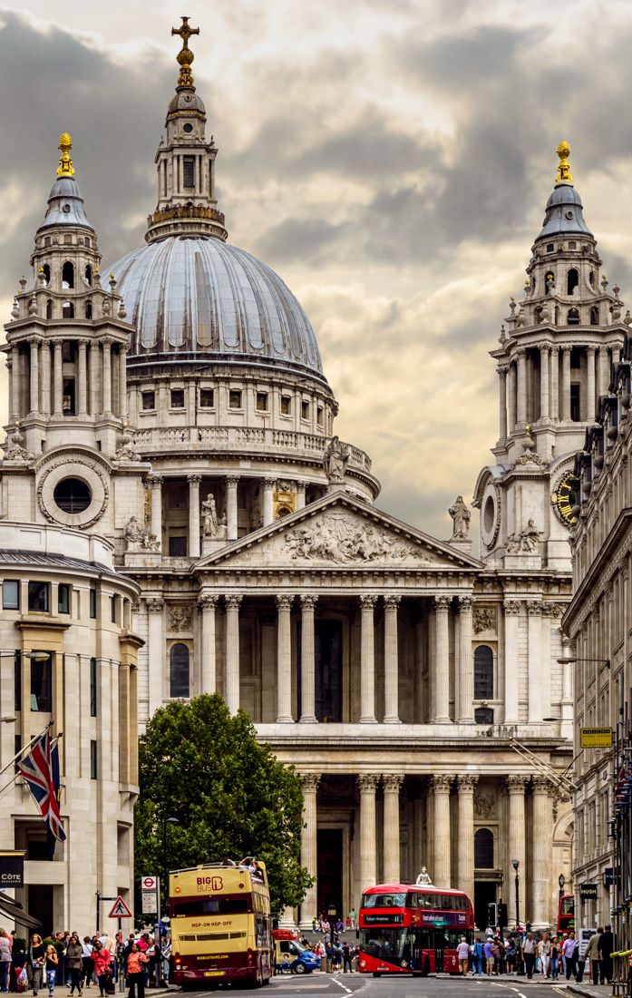 St. Pauls Cathedral, City of London. If you have a good head for heights there is a brilliant view from the top of the cathedral