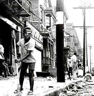 Cleaning up after the Newark Riots, 1967. — in Newark, New Jersey.