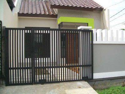 desain pagar rumah minimalis modern trendy » gambar 11
