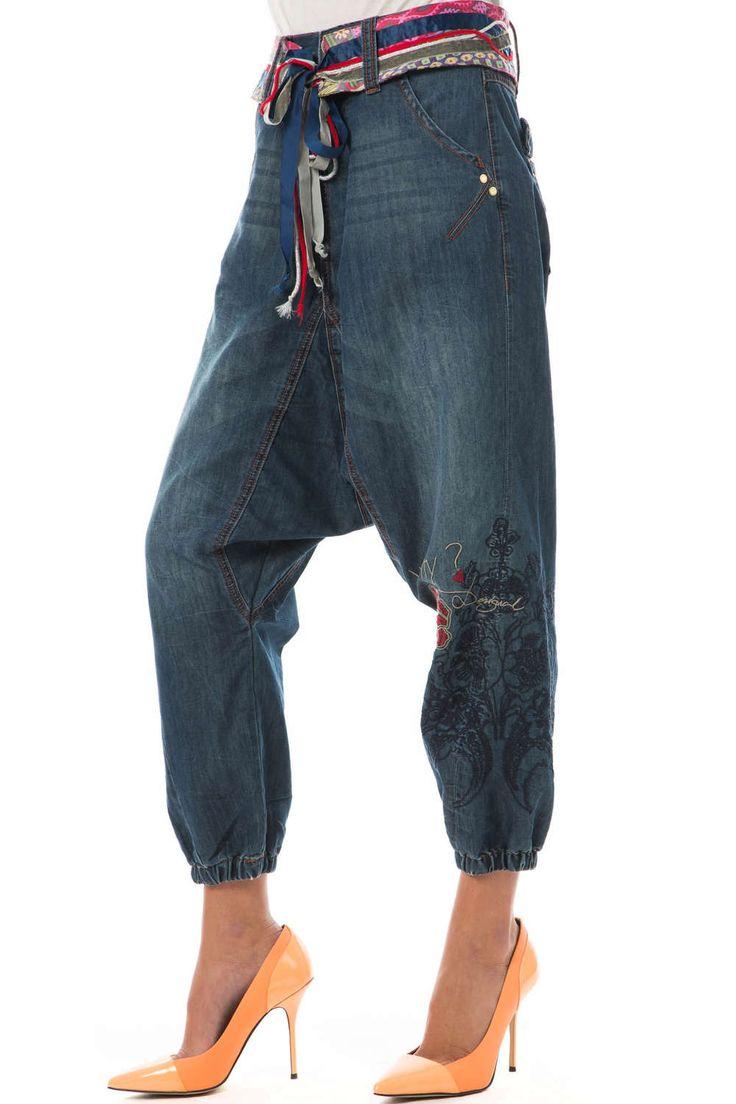 ⇒  Desigual Sarouel En Jeans Mary Desigual Bleu Pantalon   Livraison Et Retours Gratuits
