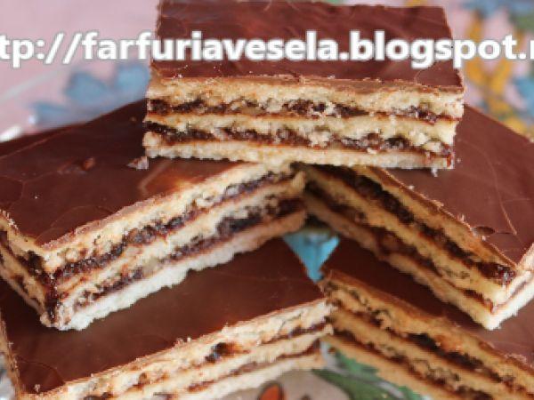 Rețetă Prajitura cu gem si nuca (de post), de Farfuriavesela - Petitchef
