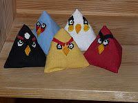 Angry birds mini babzsákok