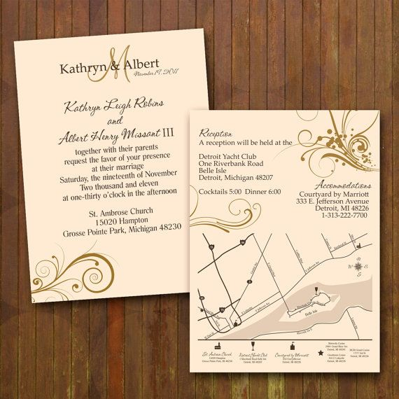 Classy Wedding Invitations Custom Double By