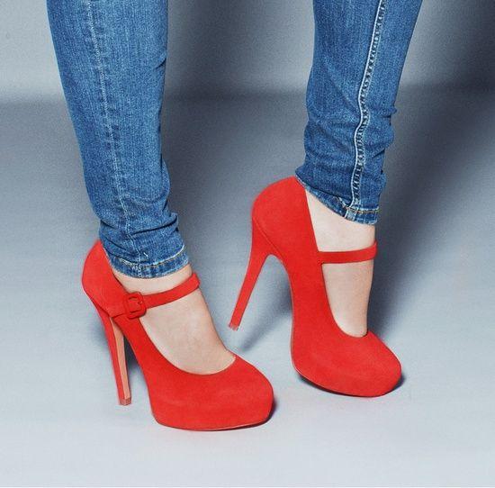 Fire-engine #red Dorothy platform heels #designinspiration