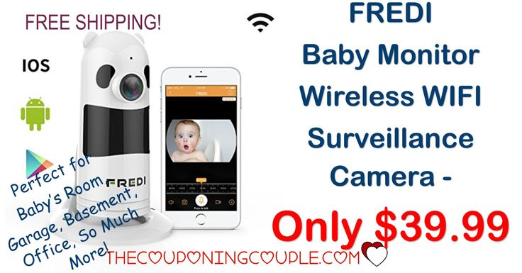HOT DEAL! Snag a FREDI WIFI Wireless Surveillance Camera for only $35.99 shipped! (was $119.99!) Great for baby's room, offices, basements, garages and so much more!  Click the link below to get all of the details ► http://www.thecouponingcouple.com/fredi-baby-monitor-wireless-wifi-surveillance-camera/ #Coupons #Couponing #CouponCommunity  Visit us at http://www.thecouponingcouple.com for more great posts!