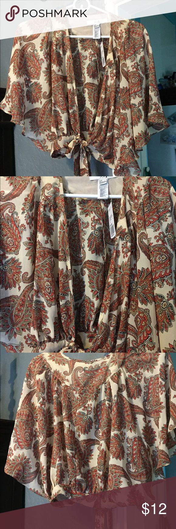 Boho festival blouse! New with tags Super cute boho festival blouse new Tops