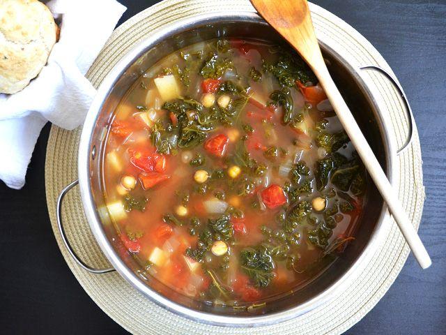 kale and chickpea #soup #vegan | Daniel Fast recipes (vegan-like) | P ...