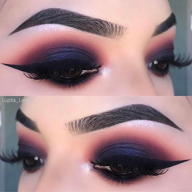 Smokey Eyes  @lupita_lemus  ・・・  Love how this look came out    Key  products:   Brows: @anastasiabeverlyhills #dipbrow in dark brown   @juviasplace Nubian 2 palette   Details on next post! #anastasiabrows