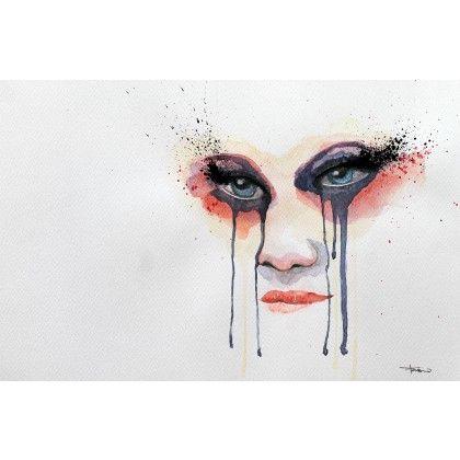 Ses yeux #art #watercolor
