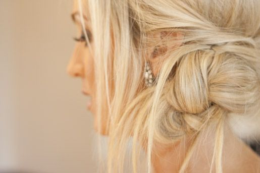 messy updo: Hair Ideas, Hairstyles, Wedding Hair, Hair Styles, Makeup, Beauty, Updo, Side Bun, Braided Knot