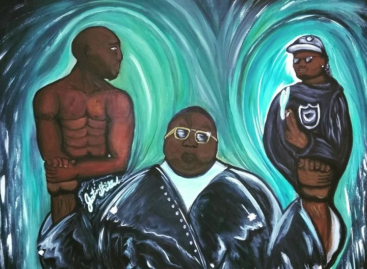 biggie eazy and tupac - Artwork by Justin Strickland