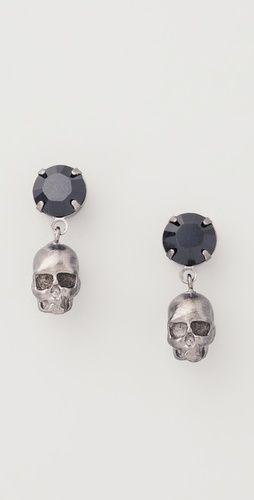 "Tom Binns ""Della Notte"" Crystal & Skull earrings"