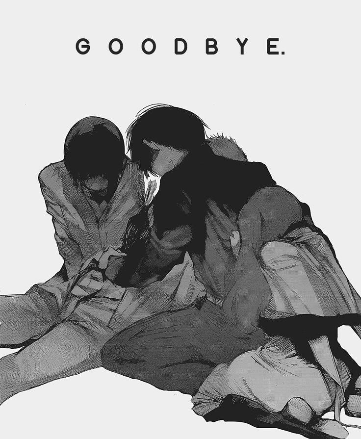 Mutsuki Tooru, Shirazu Ginshi, Kaneki Ken, Yonebayashi Saiko   Goodbye...... ;_;