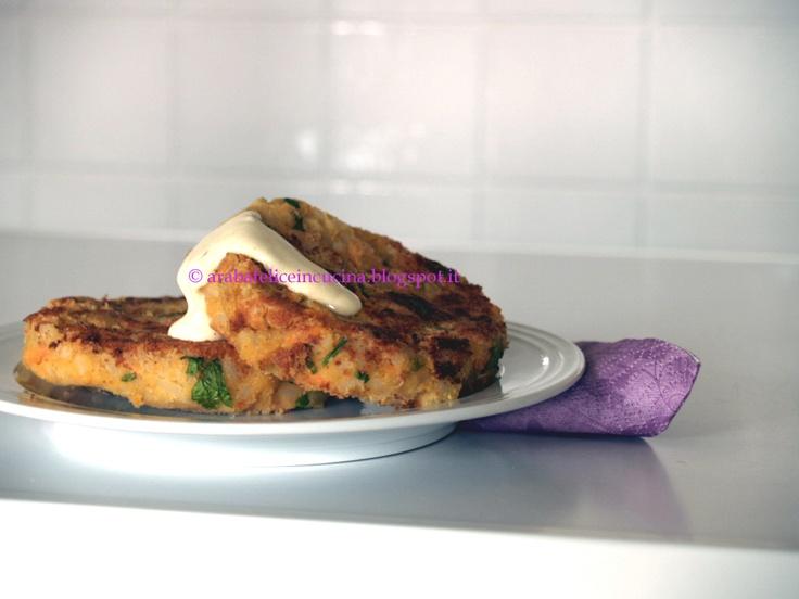 Arabafelice in cucina!: Burgers di riso, ceci e yogurt