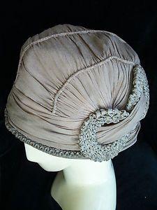 Crepe Cloche 1920's Woman's Hat I Ebay