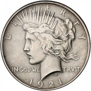 Peace Dollar 1921-1935 - The silver Peace Dollar is becoming one of the most collected U.S. minted silver dollars.  High quality coins are quickly escalating in value.  Now is a good time to explore adding the beautiful 90% silver Peace Dollar to your collection.