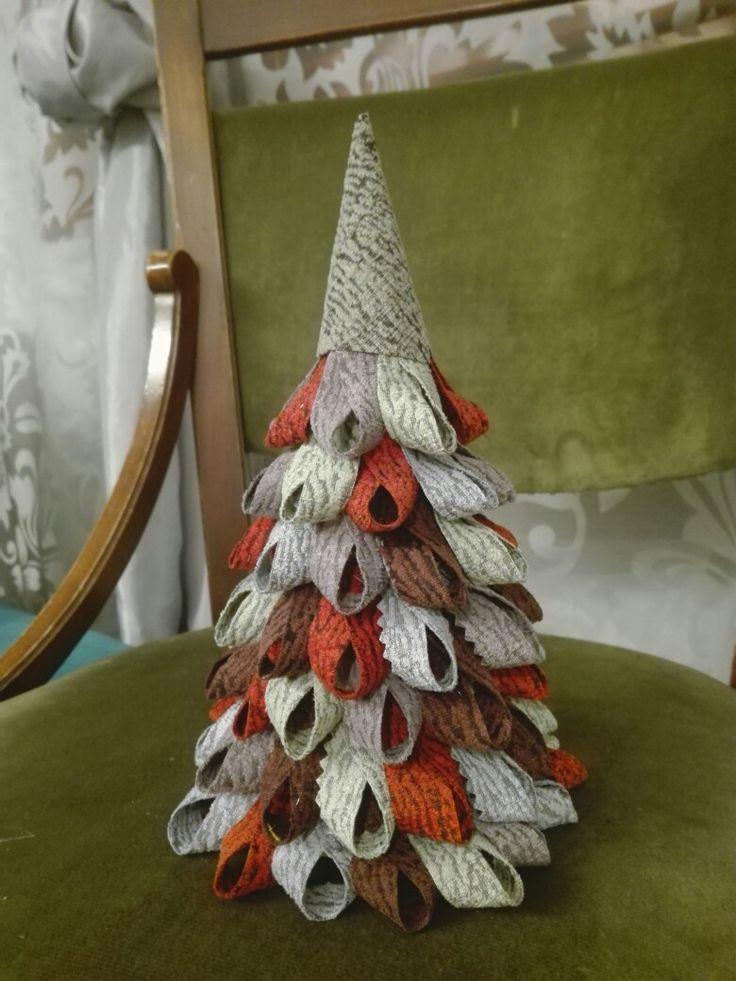 With the creative recycling of fabrics I created beautiful Christmas trees. Jim Thompson, SAIGON line tissue.