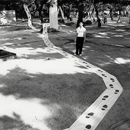 Akira Kanayama  Ashiato (Footprints), 1956   © Ryoji Ito and The former  members of the Gutai Art association.  Courtesy Museum of Osaka University