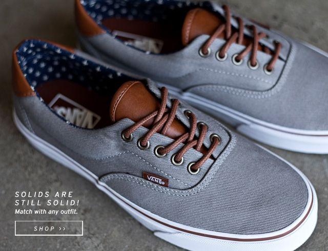 grey vans with brown leather