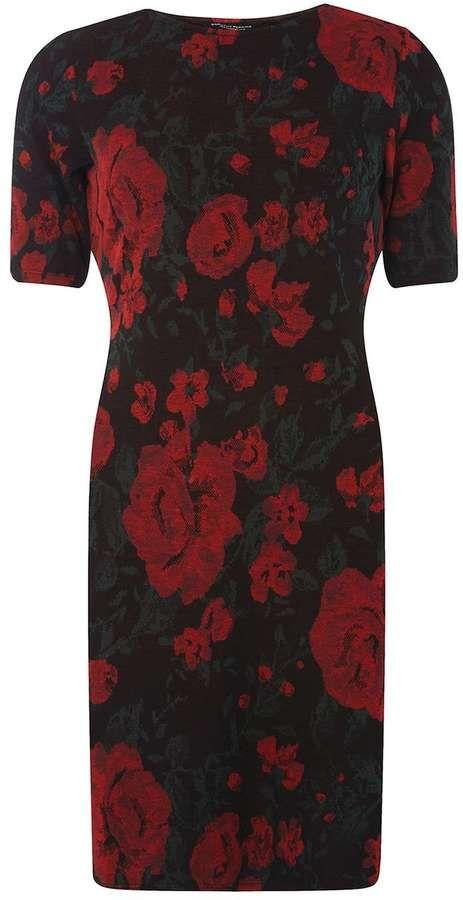 Dorothy Perkins Multi Coloured Rose Print Bodycon Dress