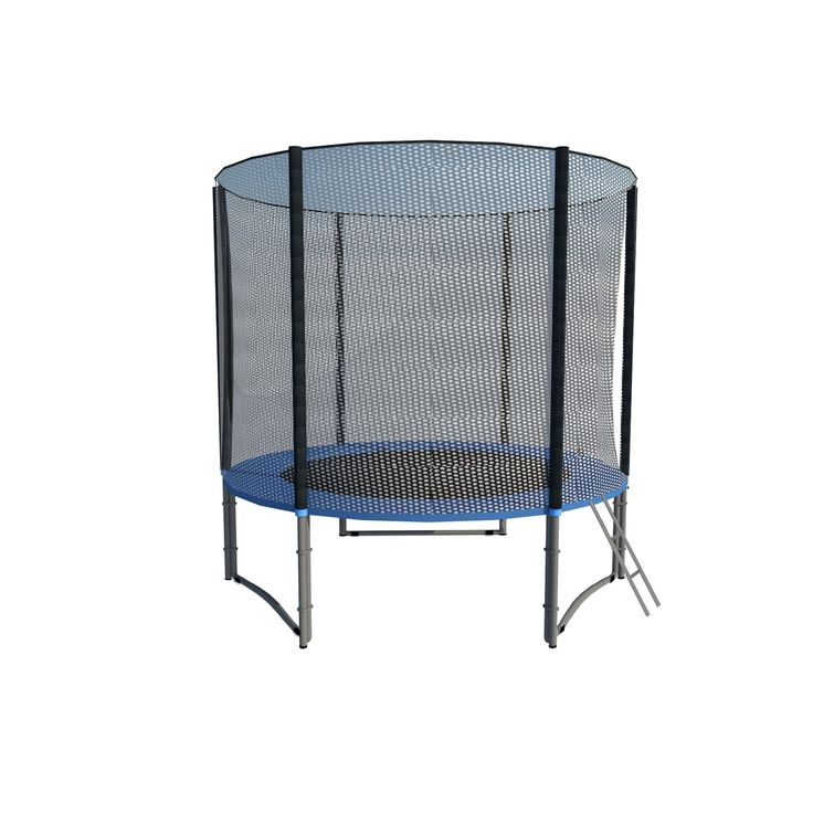 ExacMe 8 FT 3W Legs Trampoline w/ Pad, Enclosure, Net All-in-One Combo T8