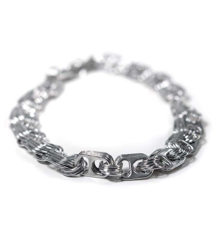 DIY idea: soda pop pull-tabs & aluminum jump rings necklace: Diy Ideas, Diy Necklaces, Pop Tabs, Tops Necklaces, Tops Jewelry, Necklaces Sodas, Diy Jewelry, Sodas Pop, Pop Tops