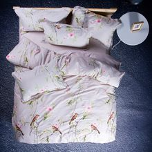 Juego de Cama de algodón Textiles Para El Hogar de aves 4 unid Tamaño para Twin Completa reina rey Home Hotel ropa de Cama ropa de Cama Edredón Conjunto(China (Mainland))