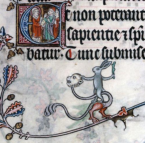 Bunny the Monster Slayer Summer volume of the Breviary of Renaud/Marguerite de Bar, Metz ca. 1302-1305. Verdun, Bibliothèque municipale, ms. 107, fol. 108r