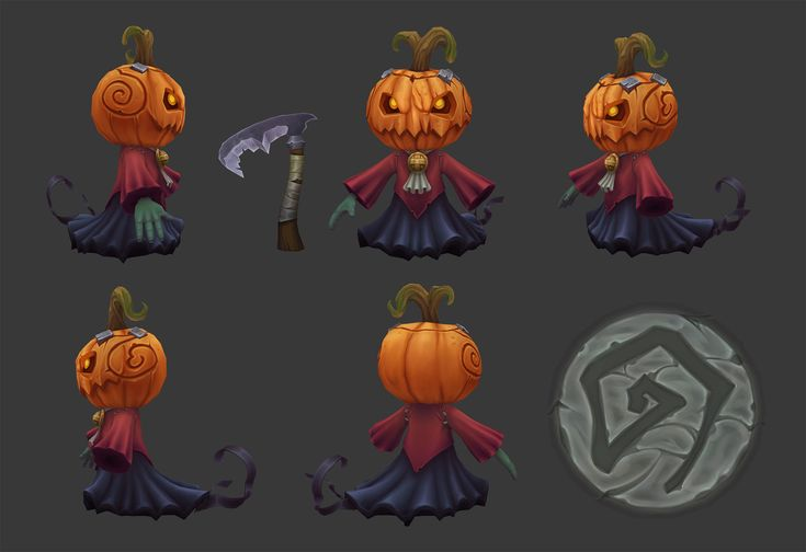 ArtStation - Gimaldinov pumpkin dude, Denny Zunon