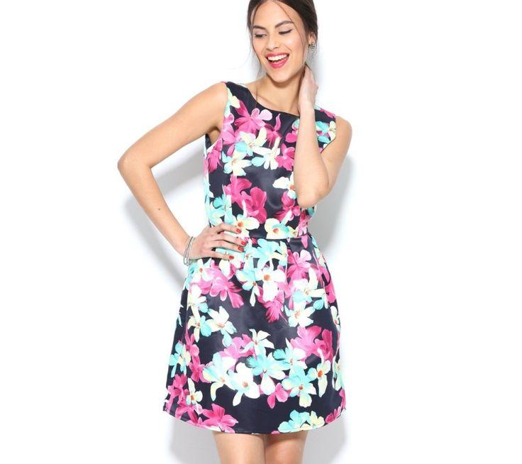 Šaty s farebnou potlačou kvetín | modino.sk #ModinoSK #modino_sk #modino_style #style #fashion #newin