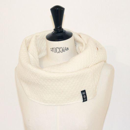 szale i apaszki-komin / cream wool