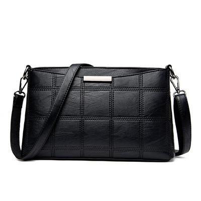 [EBay] Women Handbag Leather Plaid Messenger Bags Sac A Main Shoulder Bags Women Crossbody Bag Ladies Designer High Quality Handbags