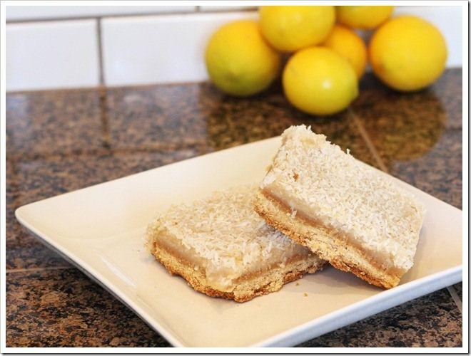 Lemon Coconut Bars (gluten-free & vegan) | GLUTEN FREE SWEETS | Pinte ...
