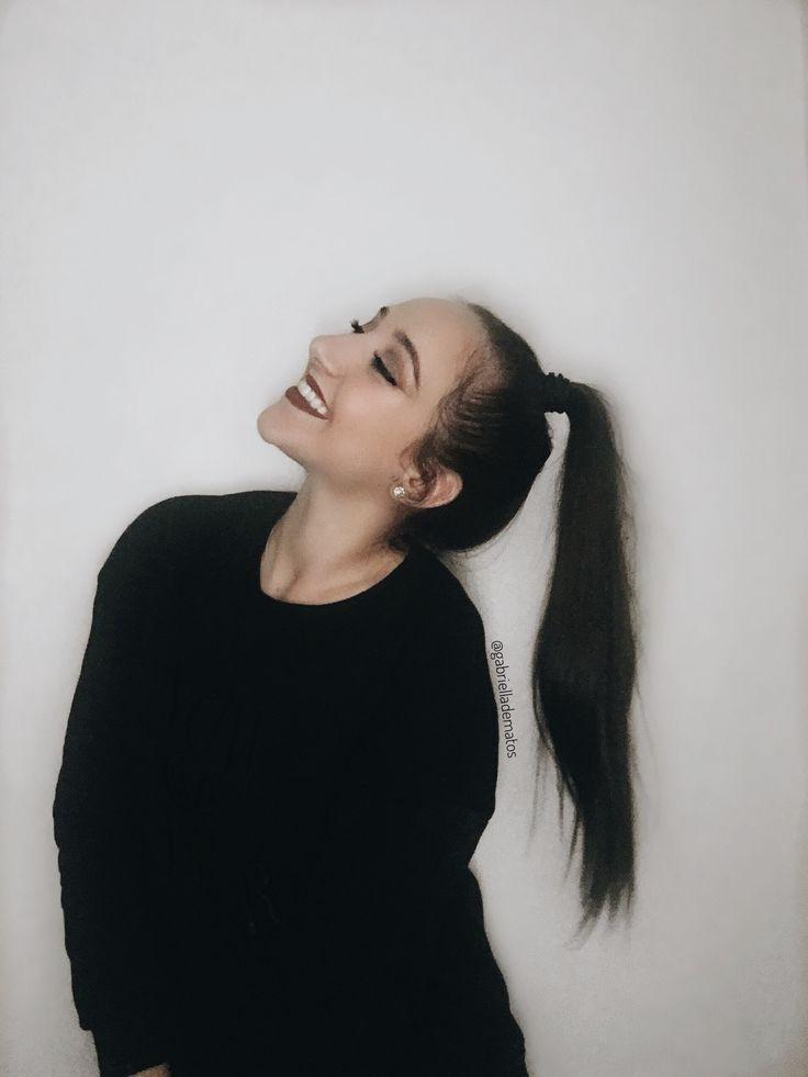 Don't let anyone ruin your happiness.  Instagram: @gabrielladematos Pinterest: @gabzdematos #fashion #happiness #hairstyle #updo #brunette #boldlips #darklips #makeup