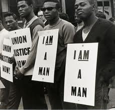 I am a man. To think about the Civil Right Movement and the era that they were in is crazy to me. All that the African Americans wanted was to be equal, have the freedom to do what the pleased, go to the restroom like everyone else, and yet their actions were limited because the color of their skin. In the picture, what really resonates with me, is that they are holding up a sign that says I am a man. They arent an animal nor a monster, a creature from another planet. They were being…