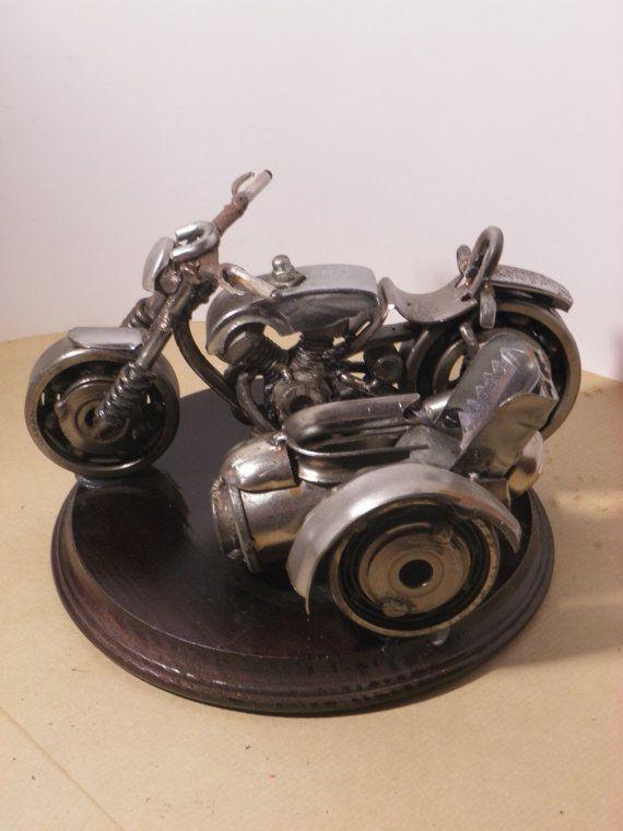 Sidecar Motorcycle / Handmade/ 100 % original by AtelierIslandArt