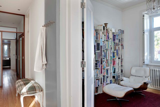Charles Eaams Chaire and MDF Italia bookcase . Fusion Interior Design Project