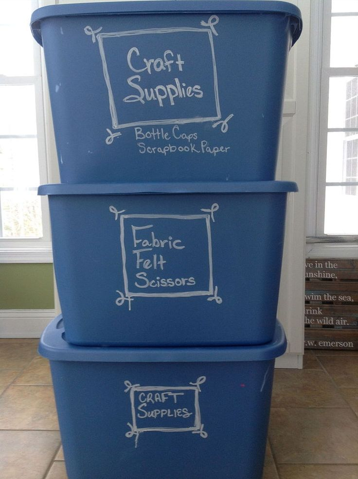 Label Your Storage Tubs With Chalk Markers