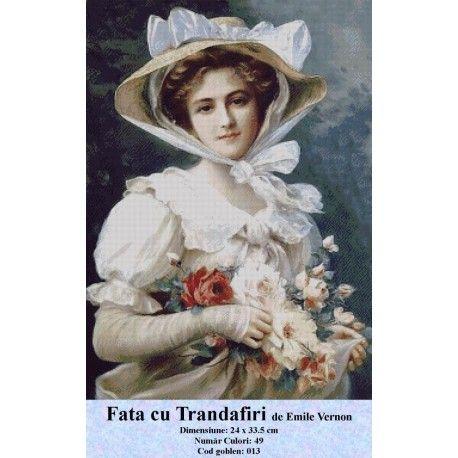 Model set goblen Fata cu Trandafiri de Emile Vernon http://set-goblen.ro/portrete/3667-fata-cu-trandafiri-de-emile-vernon.html