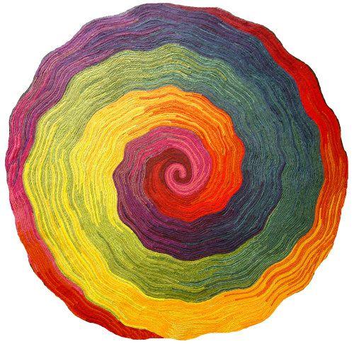 rugDonation Based, Art Studios, Rainbows Round, Zen Vortex, Vortex Rainbows, Colors, Liora Manné, Rainbows Rugs, Based Studios
