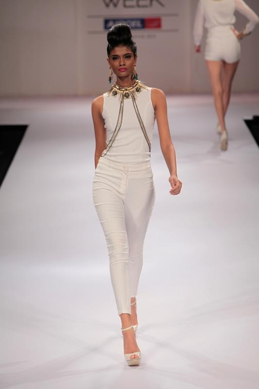 Can't get enough of the chunky statement pieces on solid colours at the Outhouse show at Lakme Fashion WeekFashion Weeks