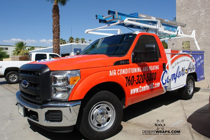 A recent wrap we finished for Comfort Air. Their fleet is coming together! #ad…