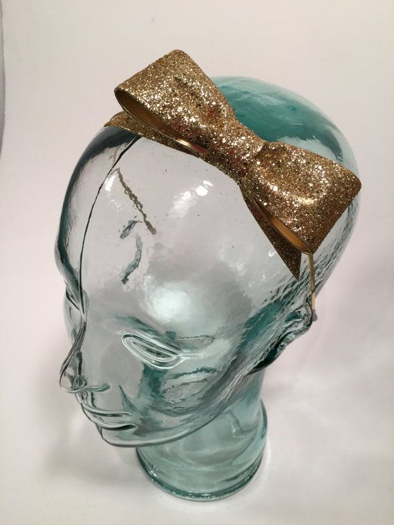 Hey, I found this really awesome Etsy listing at https://www.etsy.com/se-en/listing/115939868/sparkly-gold-glitter-bow-headband